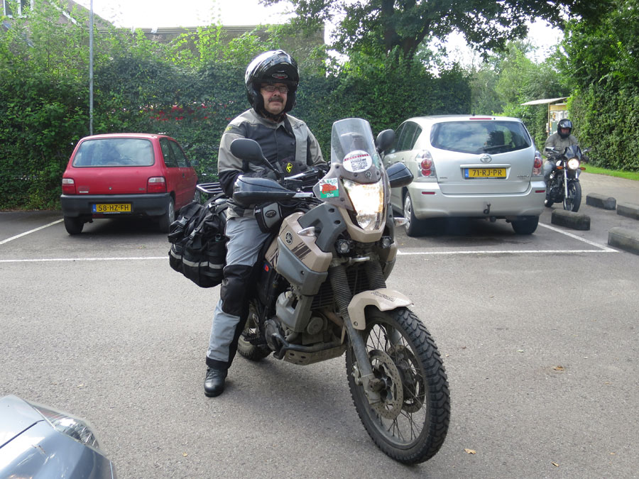 Steve on his second XT660