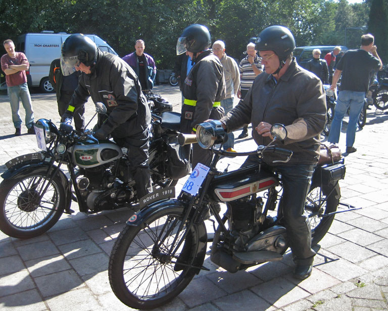 BSA 500, M21, 1939 and Rover 1919.